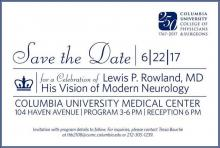 Lewis P. Rowland, MD event