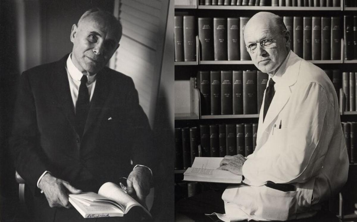 P&S faculty André F. Cournand and Dickinson W. Richards
