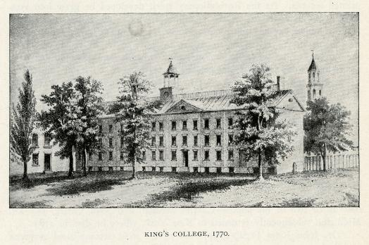 King's College, 1770