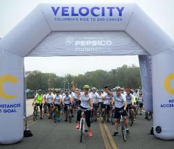 Velocity riders at 62.5 mile start line
