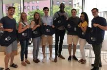 Students Enjoy 250th Anniversary Bags