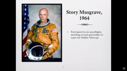 Story Musgrave, MD, NASA astronaut