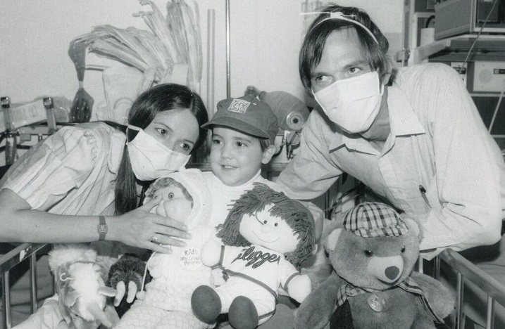 Pediatric heart transplant recipient and family